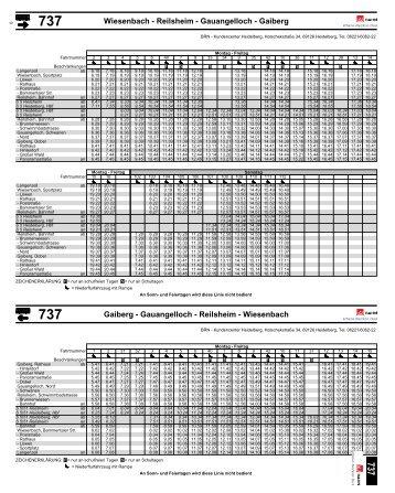 Fahrplan Bus 737 komplett - Wiesenbach