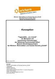 Konzept - Wichern Diakonie Frankfurt