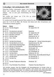 Lebendiger Adventskalender 2012