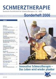 Schmerztherapie Sonderheft 2006 - Schmerz Therapie Deutsche ...