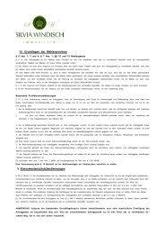 Informationen für Kauf bzw. Verkauf - Immobilien Silvia Windisch