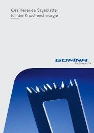 Datenblatt Oszillierende Sägeblätter für die ... - Gomina AG