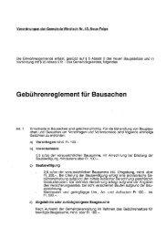 Gebührenreglernent für Bausachen - Gemeinde Windisch