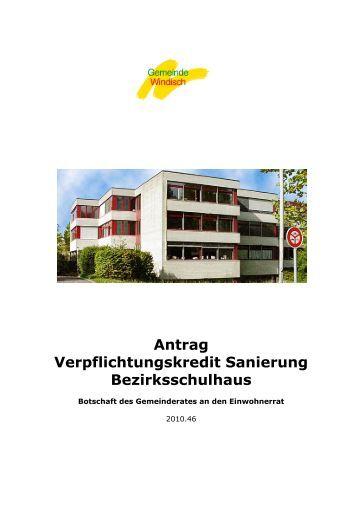 Botschaft an den Einwohnerrat (pdf) - Gemeinde Windisch