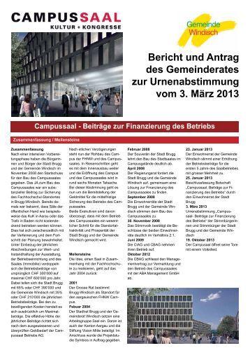Broschüre Campussaal (pdf) - Gemeinde Windisch