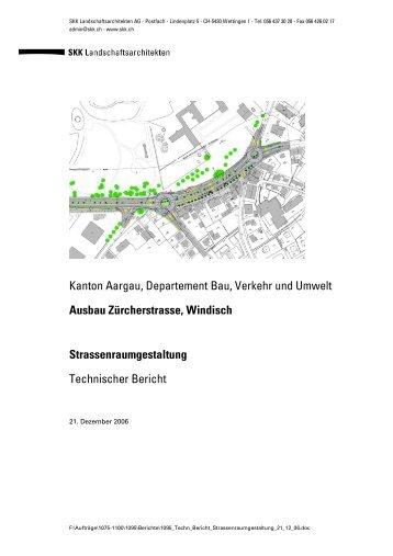 Ausbau Zürcherstrasse, Windisch Strassenraumgestaltung