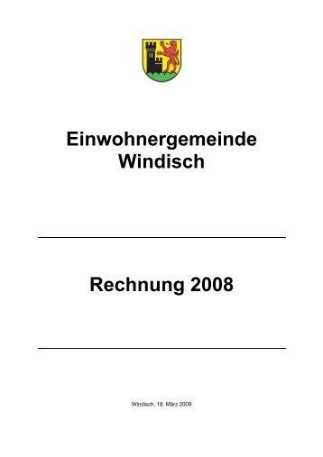 Rechnung 2008 - Gemeinde Windisch