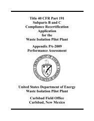 Appendix_PA - Waste Isolation Pilot Plant - U.S. Department of Energy