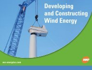 Developing and Constructing Wind Energy - Wisconsin Wind ...