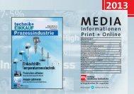 Mediadaten 2013 - technik + EINKAUF