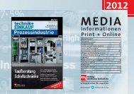 Mediadaten 2012 technik+EINKAUF Prozessindustrie