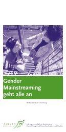 Gender Mainstreaming geht alle an - Stadt Nürnberg