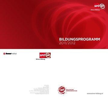 Bildungsprogramm (pdf) - SPÖ Wien