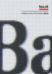 PREISE UND LEISTUNGEN 2013 - Basler Zeitung
