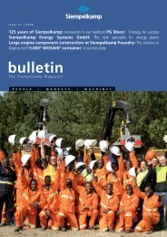 Bulletin 1/2008 - Siempelkamp