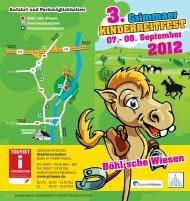 Flyer Kinderreitfest - Stadt Grimma
