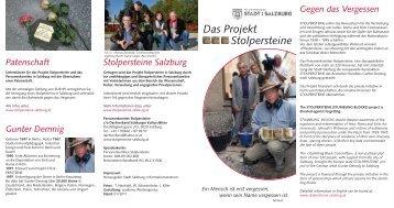 Das Projekt Stolpersteine - Stadt Salzburg