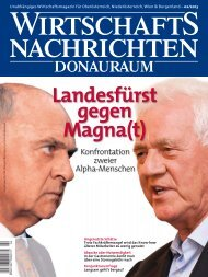 Ausgabe 02/2013 Wirtschaftsnachrichten Donauraum