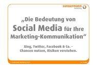 3.3. Social Networks - SONDERMANN MARKETING GmbH