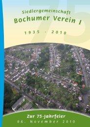 Festzeitung 75 Jahre Siedlergemeinschaft Bochumer Verein 1