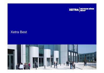 Xetra BEST-Präsentation