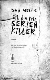 Ich bin kein Serienkiller.indd - Piper Verlag GmbH