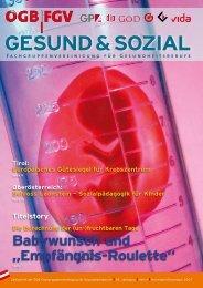 GEsunD & sozial - Arge FGV für Gesundheits