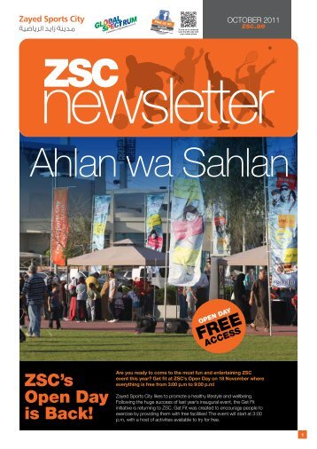 to download the October 2011 newsletter - Zayed Sports City
