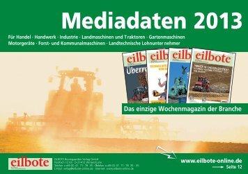 Mediadaten 2013.indd - Eilbote Boomgaarden Verlag GmbH