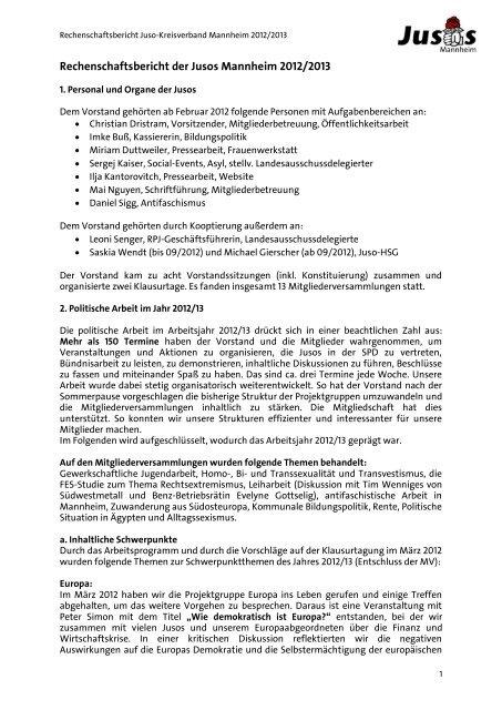 online retailer c1406 05b01 Rechenschaftsbericht der Jusos Mannheim 2012/2013