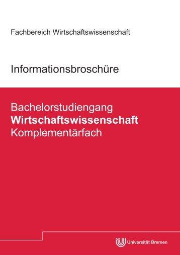 Komplementaerfach WiWi_Online.pdf - Universität Bremen ...