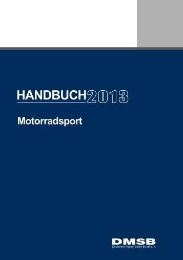 DMSB Handbuch Motorradsport 2013