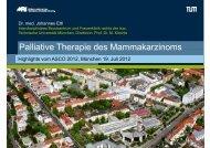 Palliative Therapie des Mammakarzinoms, Dr. J. Ettl