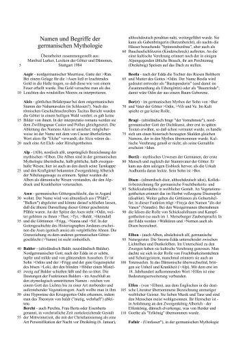 Namen und Begriffe der germanischen Mythologie