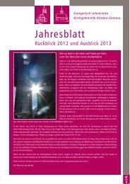 Jahresblatt 2012