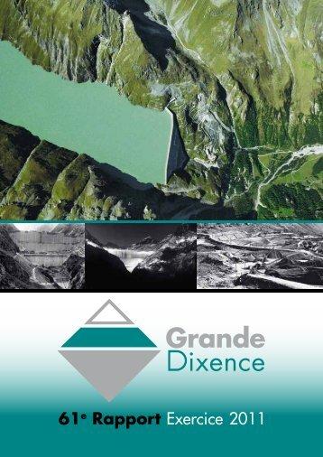 61e Rapport Exercice 2011 - Grande Dixence SA