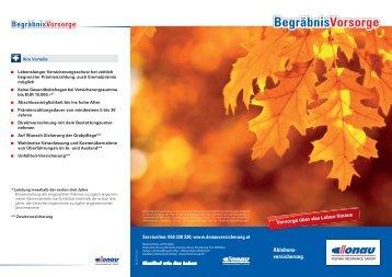 Flyer BegräbnisVorsorge - Donau Versicherung