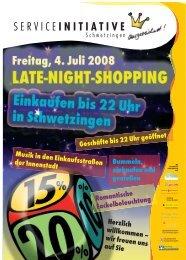 Programm Late-Nigth-Shopping - Schwetzingen