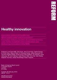 Healthy innovation