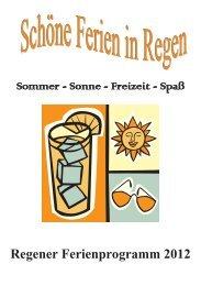 Regener Ferienprogramm 2012 - Familienurlaub im Bayerischen Wald