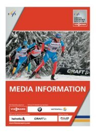 FIS Media booklet - World Cup Gällivare