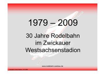 30 Jahre Rodelbahn - Rodelbahn Zwickau