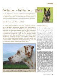 Fellfarben - Fehlfarben, - Schweizer Hunde Magazin