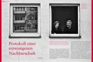 Protokoll einer erzwungenen Nachbarschaft - Günter Keil