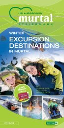 winter excursion destinations - Download brochures from Austria