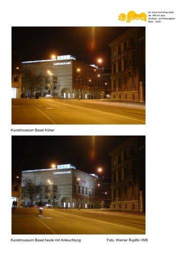 Kunstmuseum Basel früher Kunstmuseum Basel heute mit ...