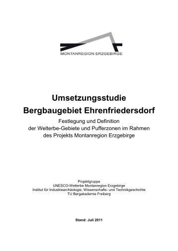 Umsetzungsstudie Bergbaugebiet Ehrenfriedersdorf