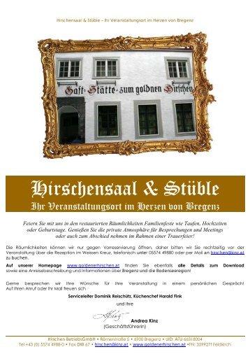 Hirschensaal & Stüble - Hotel Weisses Kreuz
