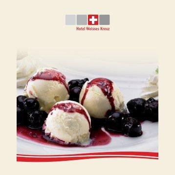 Dessert - Hotel Weisses Kreuz