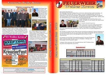 Jahresrückblick 2012 - Feuerwehr Weisses Kreuz